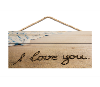 JUTE SIGN I LOVE YOU in Port St Lucie FL, Flowers By Susan