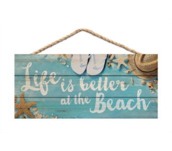 Jute Sign Life is Better at the Beach in Port St Lucie FL, Flowers By Susan