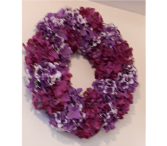 Hydrangea Wreath in North Bay ON, The Flower Garden