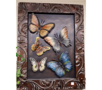 Metal Butterfly Print in North Bay ON, The Flower Garden