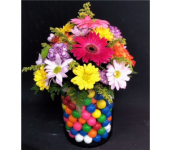 Gumballs and Flowers in Portland OR, Portland Florist Shop