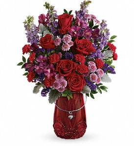 Teleflora's Delicate Heart Bouquet in North Bay ON, The Flower Garden