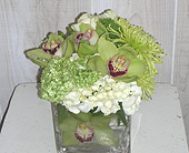 Cool green and whites in Dallas TX, Petals & Stems Florist