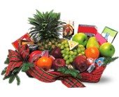 Fruit and Gourmet Basket in Dallas TX, Petals & Stems Florist