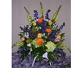 Standing Funeral Basket in Charlotte NC, Starclaire House Of Flowers Florist