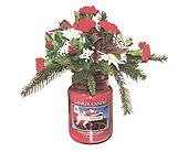 Christmas Eve Yankee Candle Bouquet in Johnstown PA, B & B Floral