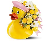 Teleflora's Just Ducky Bouquet - Girl by Petals & Stems in Dallas TX, Petals & Stems Florist