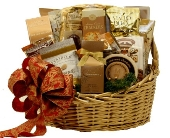 Golden Holiday Gourmet Basket in Birmingham AL, Norton's Florist