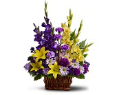 Basket of Memories by Petals & Stems in Dallas TX, Petals & Stems Florist