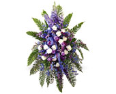 Blue & Purple Standing Spray in Charlotte NC, Starclaire House Of Flowers Florist