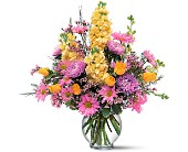 Yellow and Lavender Delight in Dallas TX, Petals & Stems Florist