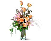 Rose and Lily Splendor in Dallas TX, Petals & Stems Florist
