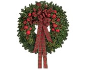 Fresh Wreath with Apples in Bay City MI, Keit's Flowers