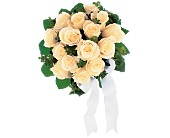 Bountiful White Roses Nosegay in Chicago, Illinois, La Salle Flowers