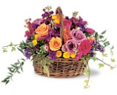 Garden Gathering Basket by Petals & Stems in Dallas TX, Petals & Stems Florist