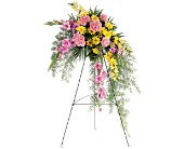 Pastel Crescent Spray in Dallas TX, Petals & Stems Florist