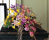 Eternal Spring Half-Couch Spray by Petals & Stems in Dallas TX, Petals & Stems Florist