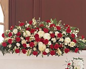 Hope and Honor Casket Spray by Petals & Stems in Dallas TX, Petals & Stems Florist