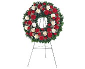 Hope and Honor Wreath in Dallas TX, Petals & Stems Florist