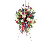 Patriotic Spirit Spray in Charlotte NC, Starclaire House Of Flowers Florist