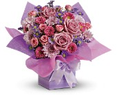 Teleflora's Perfectly Purple Present in Charlotte NC, Starclaire House Of Flowers Florist
