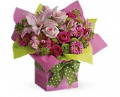 Teleflora's Pretty Pink Present in Broken Arrow OK, Arrow flowers & Gifts