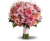Pink Rose Garden Bouquet in Pendleton IN, The Flower Cart