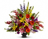 Walk in Rainbows by Teleflora in Bay City, Michigan, Keit's Flowers