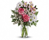 What a Treat Bouquet with Roses in Jackson, Michigan, Brown Floral Co.