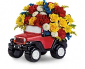 Jeep Wrangler King Of The Road by Teleflora in Methuen MA, Martins Flowers & Gifts