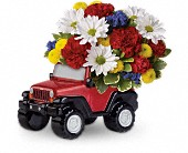 Jeep Wrangler Blazing Trails Bouquet by Teleflora in Wichita KS, Tillie's Flower Shop