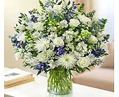 Sincerest Sorrow - Blue and White in El Cajon CA, Conroy's Flowers