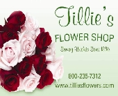 Tillie's Gift Card Mailed in Wichita KS, Tillie's Flower Shop