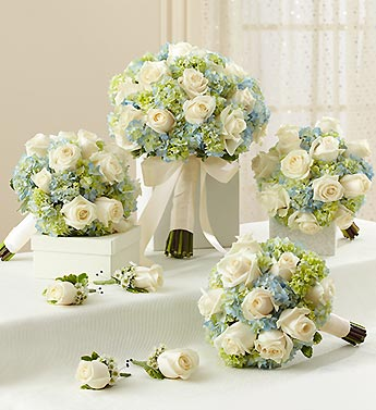 Bridal Party Personal Package Blue and White in El Cajon, California, Conroy's Flowers