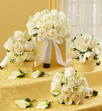 Bridal Party Personal Package - White in El Cajon, California, Conroy's Flowers