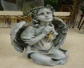 Praying Angel with Cross in Ionia MI, Sid's Flower Shop