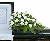 Simple Love Casket Spray in Methuen MA, Martins Flowers & Gifts