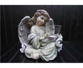Angel Candle Holder in Ionia MI, Sid's Flower Shop