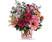 Teleflora's Painterly Pink Bouquet in Kingston ON, Pam's Flower Garden