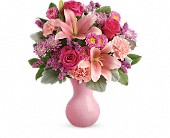 Teleflora's Lush Blush Bouquet in Dallas TX, Petals & Stems Florist