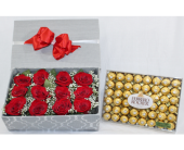 A Box-full of Love with Chocolates in Houston TX, Ace Flowers