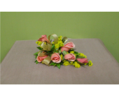 Peach sweetheart rose corsage in Ellicott City, Maryland, The Flower Basket, Ltd