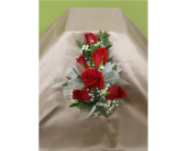 Red sweetheart rose corsage in Ellicott City, Maryland, The Flower Basket, Ltd