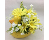 Silk Baby DuckArtificial Arrangement in Wichita KS, Tillie's Flower Shop