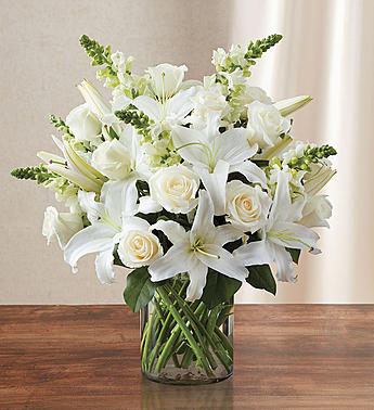 Classic All White Arrangement for Sympathy  in El Cajon, California, Conroy's Flowers