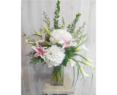 Blushing Blizzard in Dallas TX, Petals & Stems Florist