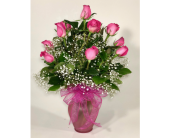 Premium Hot Pink Roses in Wichita KS, Tillie's Flower Shop