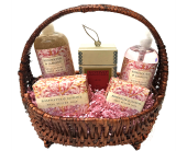 Bath & Body Basket with Votivo Candle in Birmingham AL, Norton's Florist
