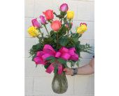 Tuesday Mixed Color Rose Special in Wichita KS, Tillie's Flower Shop
