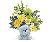 Teleflora's Joyful Blue Bear Bouquet, picture